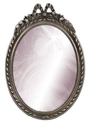 Oglindă ovală argintie