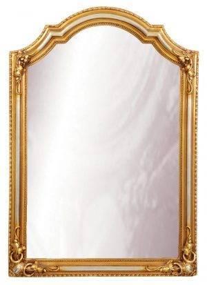 Oglindă dreptunghiulară aurie pentru hol