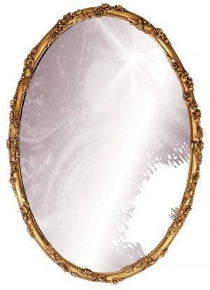 Oglindă ovală aurie