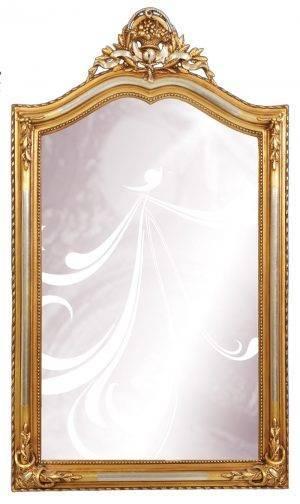 Oglindă cu ramă aurie