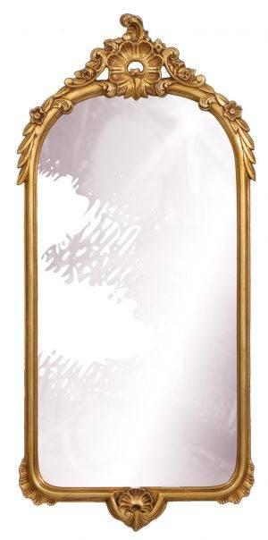 Oglindă dreptunghiulară aurie